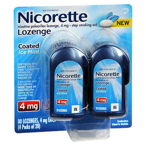 Nicorette Nicotine Polacrilex Lozenges  Mint 80 Each by Nicorette (4754229297237)