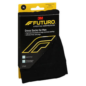 Futuro Lifestyle Compression Dress Socks for Men Firm Black 1 Each by Futuro (4754232836181)