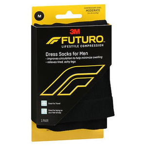 Futuro Lifestyle Compression Dress Socks for Men Moderate 1 Each by Futuro (4754232868949)