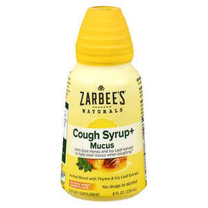 Zarbee's Naturals Cough Syrup+ Mucus Natural Honey Lemon Flavor 8 Oz by Zarbees (4754237227093)