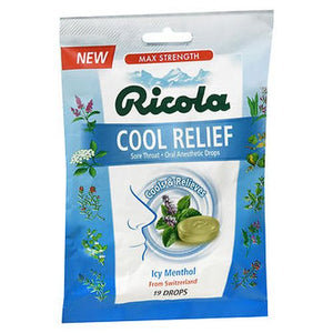 Ricola Cool Relief Oral Anesthetic Drops Icy Menthol 19 Each by Ricola (4754237980757)