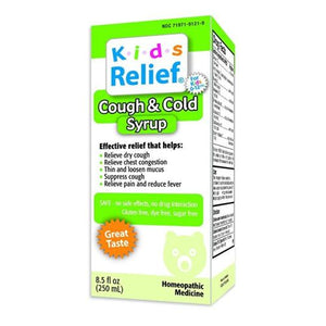 Kids Relief Cough and Cold 8.5 FL Z by Homeolab (2614555508821)