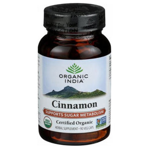 Organic Cinnamon 90 Veg Caps by Organic India (2590288478293)