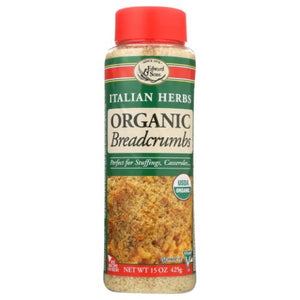 Organic Breadcrumbs Italian Herbs 15 Oz by Edward & Sons (4753968201813)