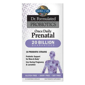 Dr. Formulated Probiotics Once Daily Prenatal 30 Caps by Garden of Life (2614604824661)