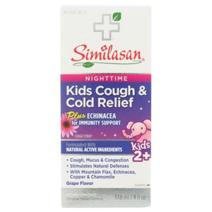 Kids Nighttime Cough & Cold Relief Plus Echinacea 4 Oz by Similasan (4753980358741)
