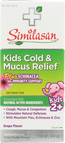 Kids Cold & Mucus Relief Plus Echinacea 4 Oz by Nizoral (4753980653653)