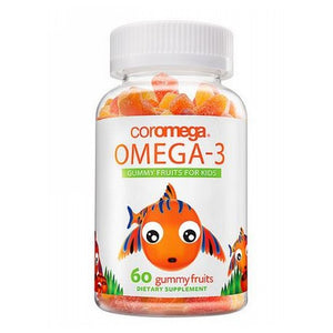 Omega-3 Gummy Fruits For Kids 60 Count by Coromega