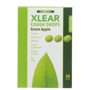 Cough Drops Green Apple 30 Count by Xlear Inc