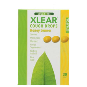 Cough Drops Honey Lemon 30 Count by Xlear Inc (4753988681813)