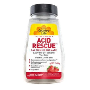 Acid Rescue Berry 60 Chews by Country Life (4753989894229)