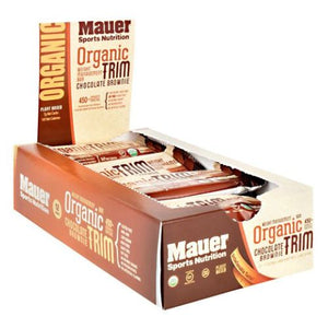 Organic Trim Bar Chocolate Brownie 12 Bars by Mauer Sports Nutrition