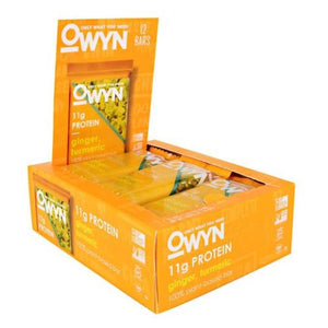 Owyn Bar Ginger & Turmeric 12 Count by Only What You Need (2636343869525)
