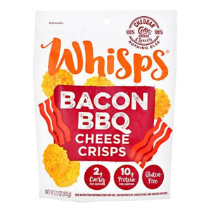 Whisps Cheese Crisps Barbeque Becan Cheddar 12 Count by Schuman Cheese (2614531260501)