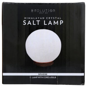 Himalayan White Sphere Crystal Lamp 6 lbs by Evolution Salt (4754011586645)