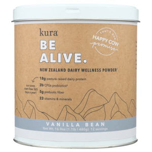 Dairy Protein Wellness Powder Vanilla Bean 16.9 Oz by Kuranutrit (4754012143701)