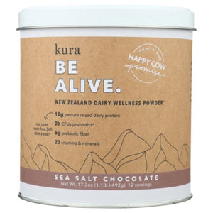 Dairy Protein Wellness Powder Sea Salt Chocoalte 17.3 Oz by Kuranutrit (4754012176469)