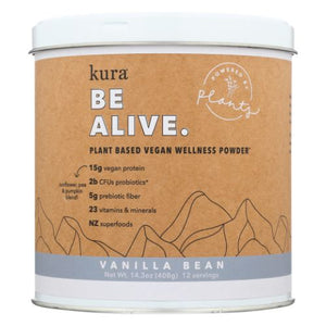Protein Wellness Powder Vanilla Bean 14.3 Oz by Kuranutrit (4754012307541)