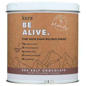 Protein Wellness Powder Sea Salt Chocolate 14.3 Oz by Kuranutrit (4754012340309)