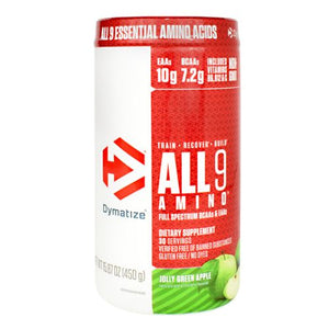 All 9 Amino Jolly Green Apple 30 Servings by Dymatize (4754013061205)