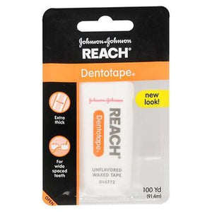 Reach Dentotape Floss Waxed Unflavored 100 Yards each by Reach (4753941889109)