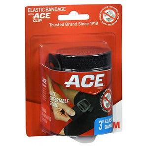 Ace Black Elastic Bandage 3'' 1 Each by 3M (4753948672085)
