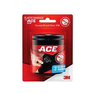 Ace Black Elastic Bandage 4'' 1 Each by 3M (4753948737621)
