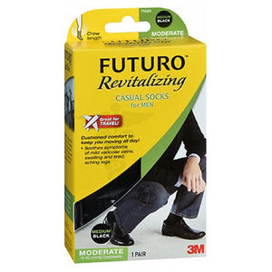 Futuro Casual Socks Medium, Black 1 Each by 3M (4753948835925)