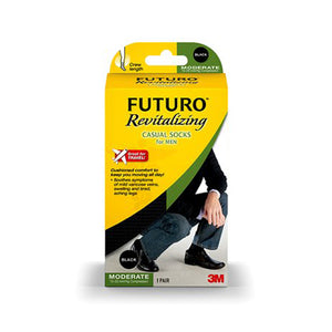 Futuro Casual Socks Large, Black 1 Each by 3M (4753948868693)