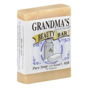 Beauty Bar Goat Milk Soap with Oatmeal 4 Oz by Grandmas Pure & Natural (4754096357461)