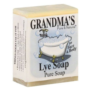 Pure Lye Bar Soap 6 Oz by Grandmas Pure & Natural (4754096455765)
