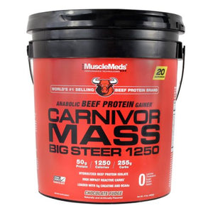 Carnivor Mass Big Steer Chocolate Fudge 15 lbs by Muscle Meds (4754243485781)