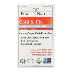 Cold & Flu Maximum Strength 10 ml by Forces of Nature (4754245255253)