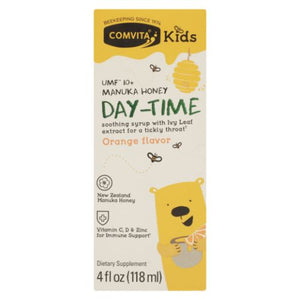 Manuka Honey Day Time Orange Flavor Kids 4 Oz by Comvita (4754250530901)