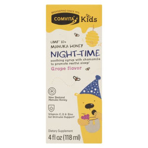 Manuka Honey Night Time Grape Flavor Kids 4 Oz by Comvita (4754250563669)