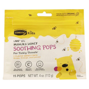Manuka Honey Soothing Pops Kids 4 Oz by Comvita (4754250596437)