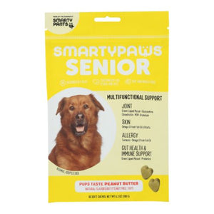 Five-In One Wellness  Senior Medium Breed Peanut Butter 60 Soft Chews by SmartyPants (4754252628053)