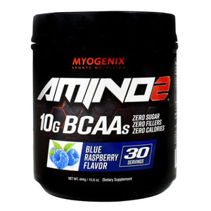 Amino 2 Blue Raspberry 15.6 Oz by Myogenix (4754271109205)