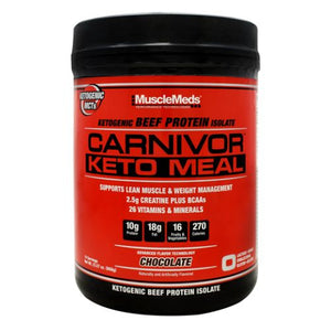Carnivor Keto Meal Chocolate 14 Servings by Muscle Meds (4754272485461)