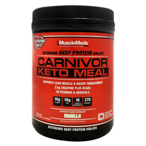 Carnivor Keto Meal Vanilla 14 Servings by Muscle Meds (4754272518229)