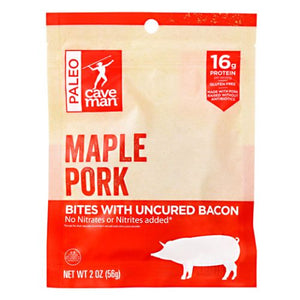 Meat Bites Maple Pork 2 Oz by Caveman Foods (4754272583765)
