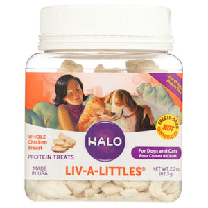 Liv-A-Littles Protein Treats For Dogs & Cats 2.2 Oz by Halo Purely For Pets (4754277007445)