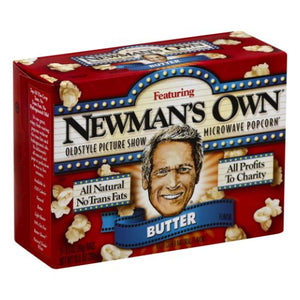 Microwave Popcorn Butter 10.5 Oz by Newman's Own (4754282250325)