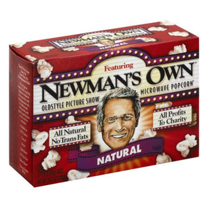 Microwave Popcorn Natural 10.5 Oz by Newman's Own (4754282315861)