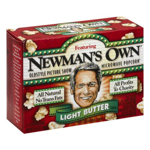 Microwave Popcorn Light Butter 10.5 Oz by Newman's Own (4754282348629)