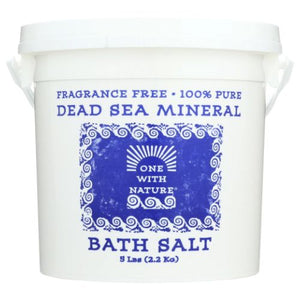 Dead Sea Mineral Bath Salt 5 lb by One with Nature (4754282774613)