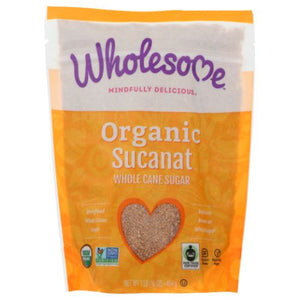 Organic Sucanat 16 Oz by Wholesome (4754283167829)