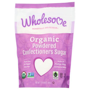 Organic Powdered Confectioners Sugar 16 Oz by Wholesome (4754285199445)