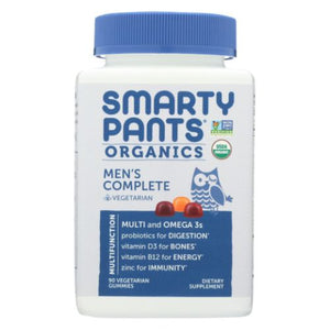 Organic Men's Complete Multivitamin 90 Vegetarian Gummies by SmartyPants (4754286739541)