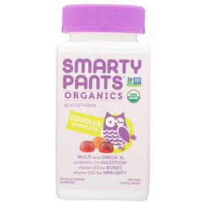 Organic Toddler Complete Vitamin 45 Vegetarian Gummies by SmartyPants (4754286870613)
